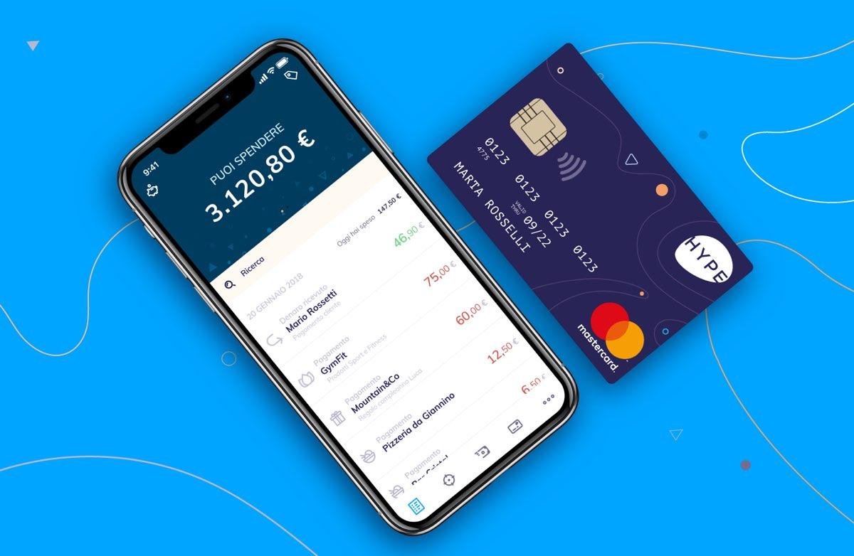 La carta Hype può essere utilizzata con Apple Pay