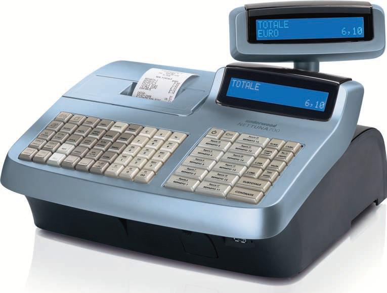 Nettuna 700 è un registratore di cassa elettronico semplice