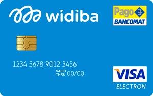 Le carte Widiba hanno un design sobrio o più vivace