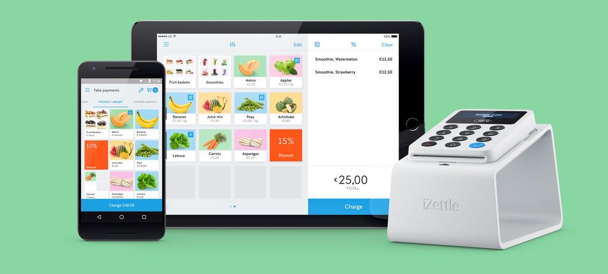 iZettle include un lettore di carte e un'app gestionale