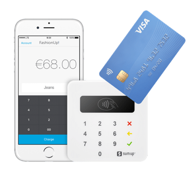 SumUp è un POS mobile compatto con app per smartphone