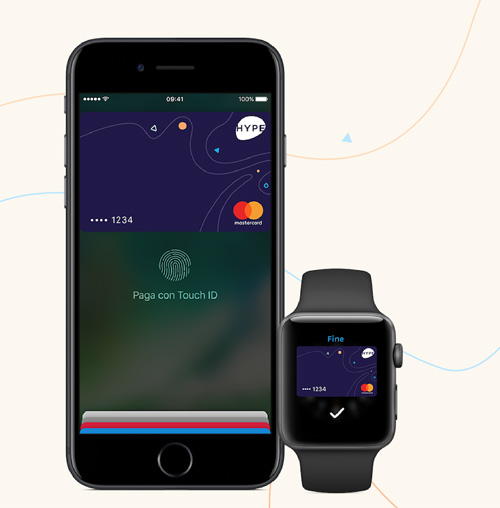 Hype è abilitata ai pagamenti con Apple Pay