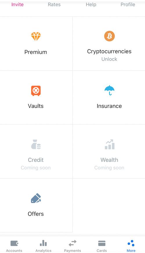 La gestione della carta avviene tramite app Revolut