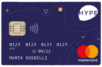 La carta Hype è contactless e compatibile con Apple Pay