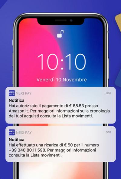Con Nexi Pay si controllano da smartphone tutti i movimenti