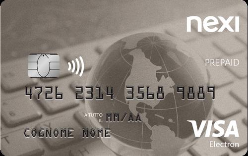 La prepagata Nexi è abilitata agli acquisti in tutto il mondo