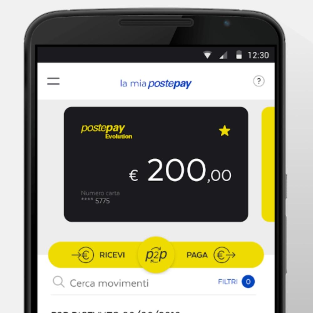 L'app PostePay consente di verificare saldo e movimenti