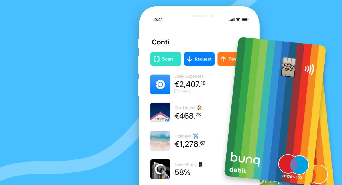 bunq carta e app