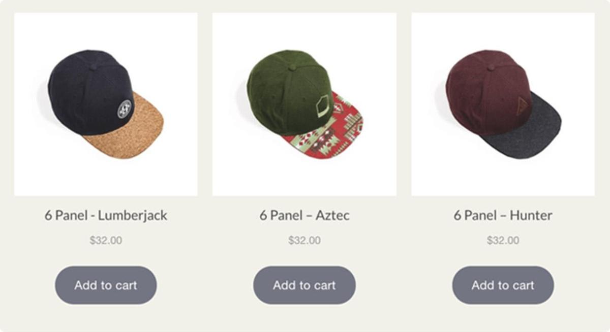 Esempio di Buy Buttons di Shopify Lite