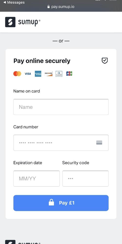 Link di pagamento SumUp