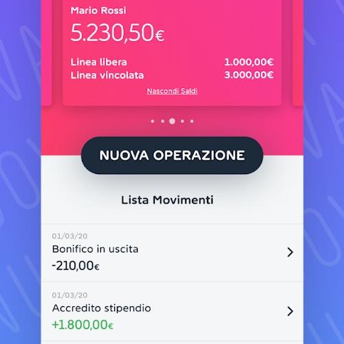 Schermata principale app Widiba