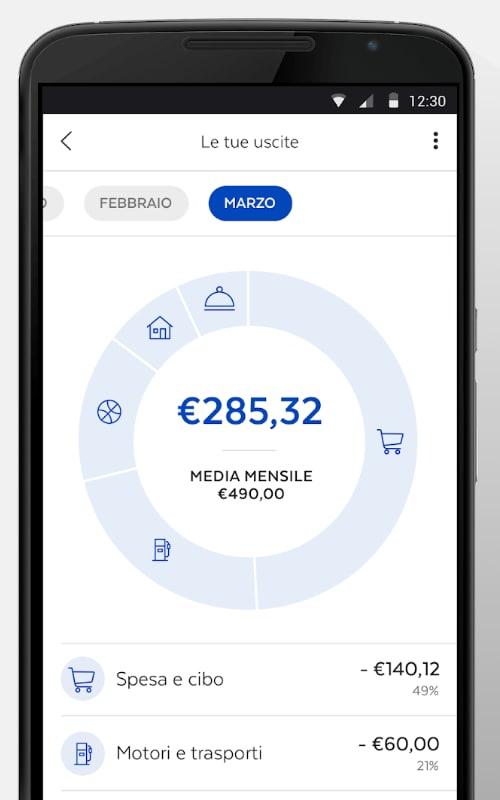 Riepilogo patrimonio app BancoPosta