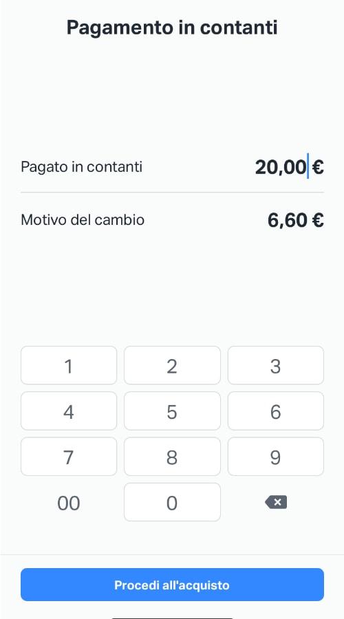 Pagamento in contanti su app SumUp