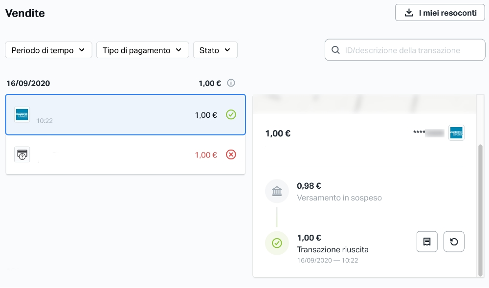 Piattaforma web di SumUp