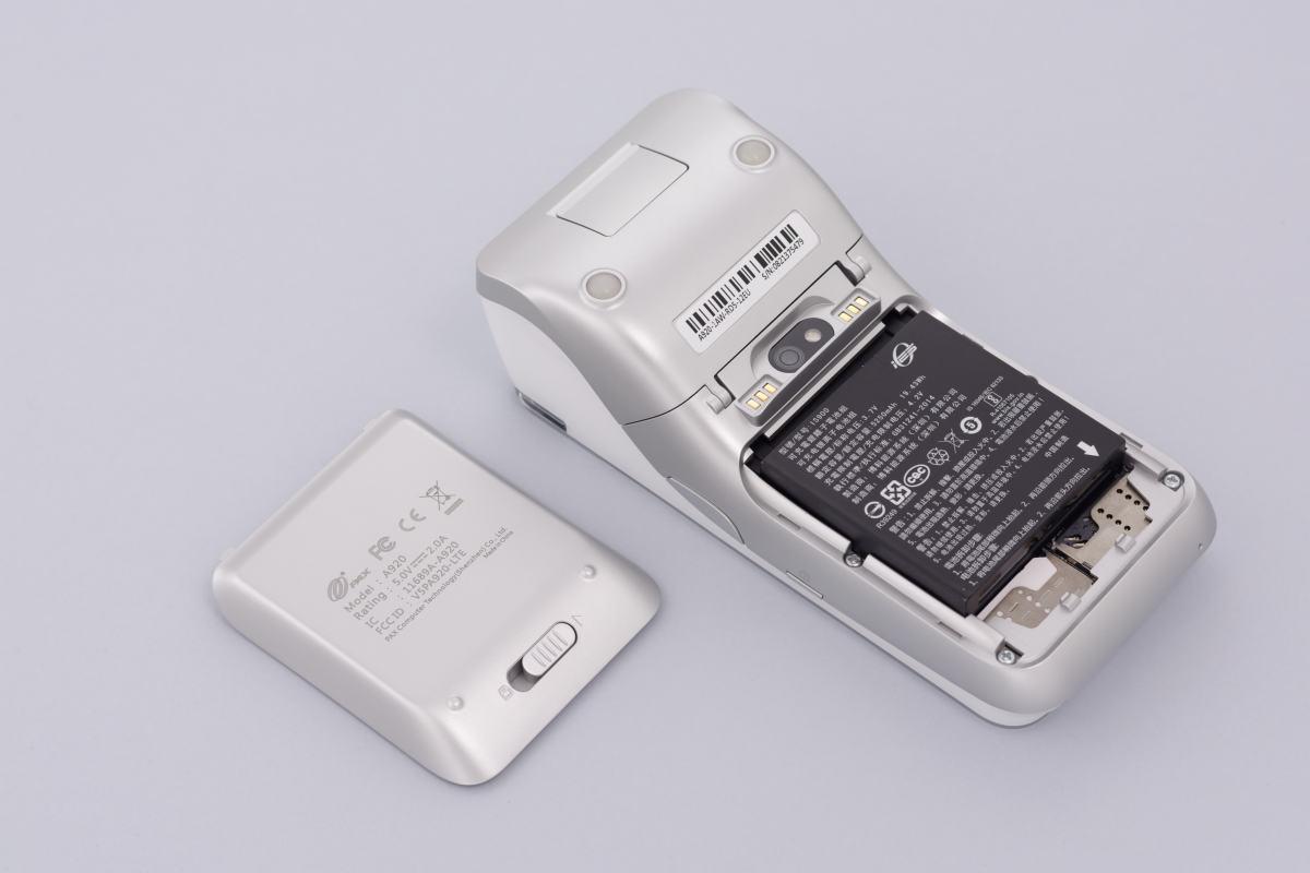 Batteria del modello A920 di Pax