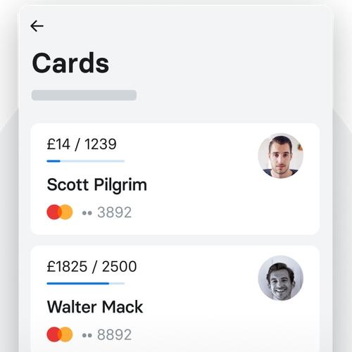 Spese team nell'app Revolut Business