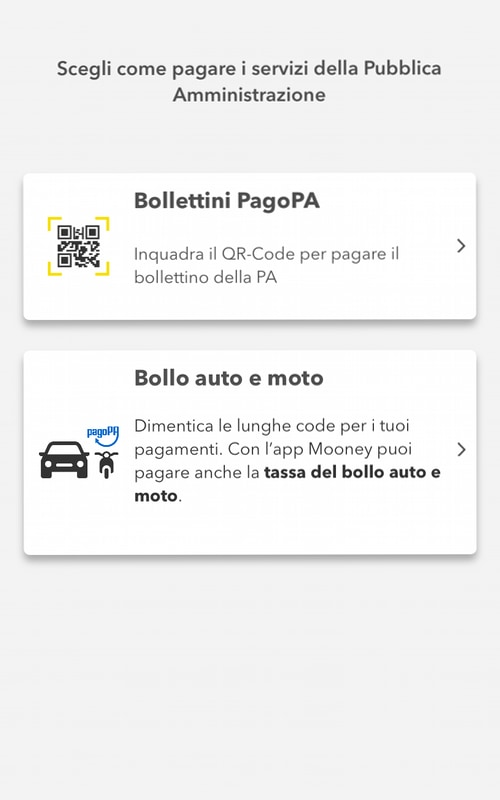 Pagamento bollo auto app Mooney