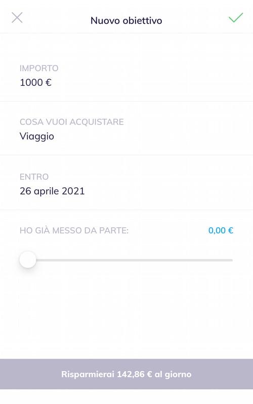 Risparmio automatico nell'app Hype