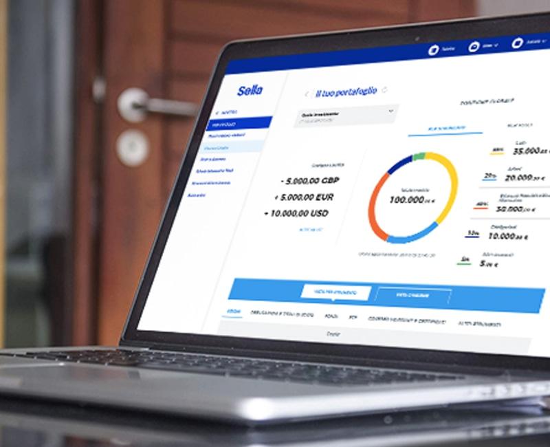Piattaforma web del Conto Sella