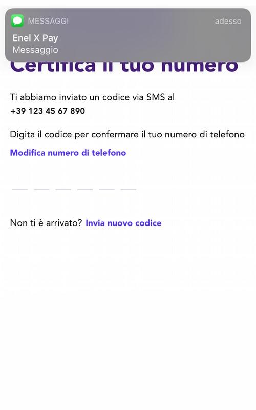 Verifica del numero di cellulare