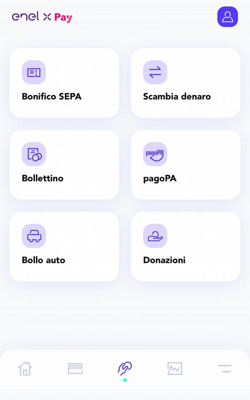 Operazioni disponibili in app