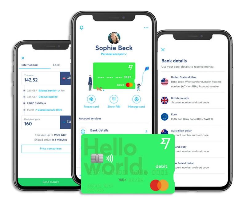 Gestione del conto multivaluta Wise da app
