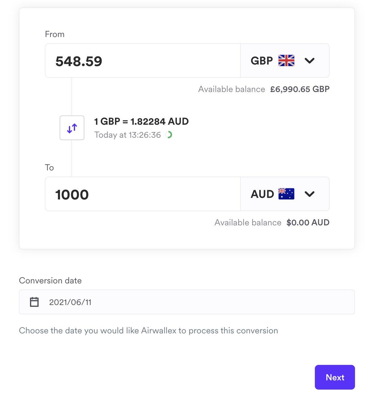 Airwallex utilizza il cambio interbancario in tempo reale