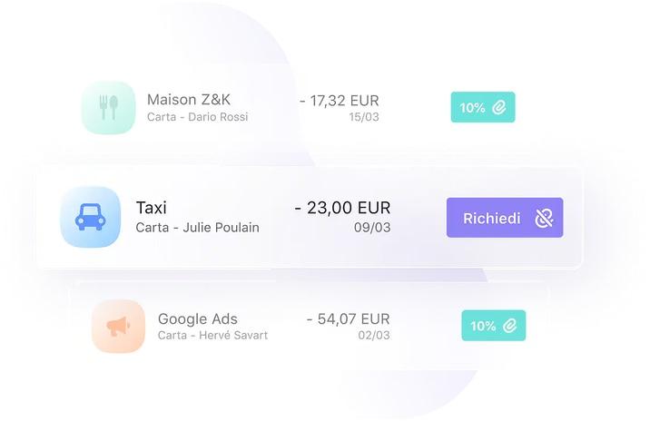Qonto permette di richiedere il giustificativo della spesa ai propri dipendenti tramite app