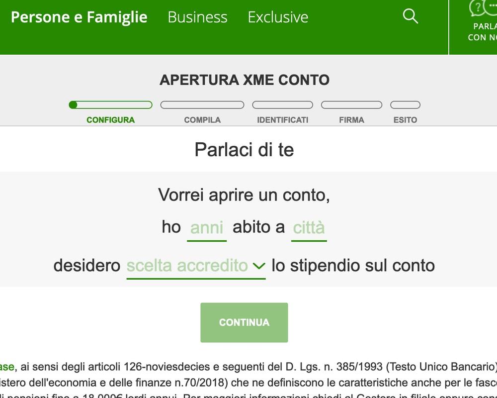 Il sito Intesa Sanpaolo risulta un po' caotico